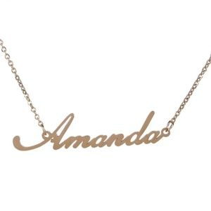 Jewelry - Amanda Gold Name Nameplate Necklace